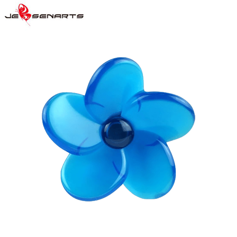Plastic Flower shape vent clip scented car perfume holder vehicle air freshener V09
