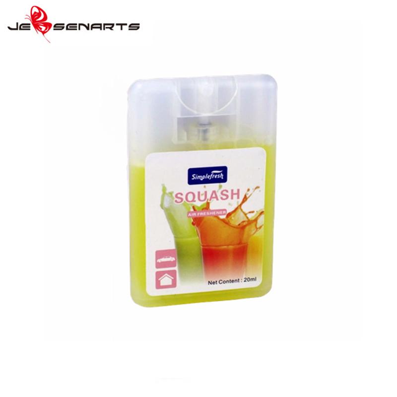 Card shape car air freshener spray perfume unscented car air freshener S02